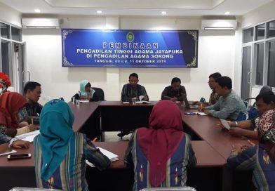 Sosialisasi Hasil Pembinaan Sekditjen Badilag di PTA Jayapura Tahun 2019